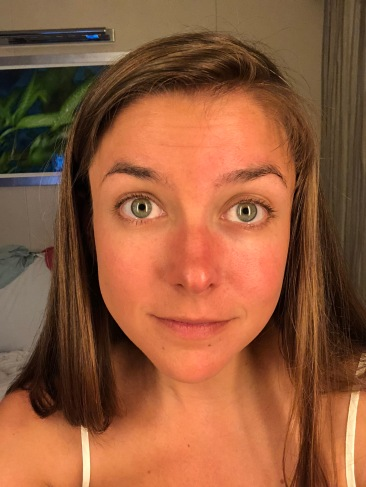 CCTM + bronzer on half of my face